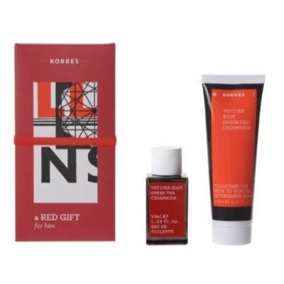 Korres Ανδρικό Άρωμα Vetiver Root Green Tea Cedarwood, 50ml + Δώρο After Shave Vetiver Root Green Tea Cedarwood 125ml