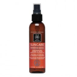 Apivita Suncare Protective Hair Oil Sunflower & Abyssinian Oil Αντιηλιακό Λάδι Μαλλιών, 150ml