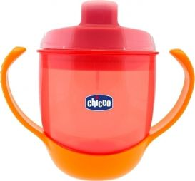 CHICCO TRAINING MEAL CUP 12+ 180ML (06824-70) ΚΟΚΚΙΝΟ