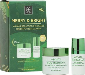 Apivita Merry & Bright Set Bee Radiant Rich Texture