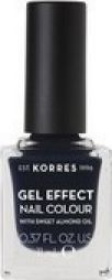 Korres Gel Effect Nail Colour Βερνίκι Νυχιών 88 Steel Blue 11ml.