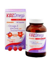 HEALTH AID KIDZOMEGA 3 + VITAMINS CHEWABLE 60CAPS