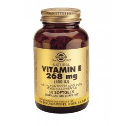 SOLGAR VITAMIN E 268MG (400IU) 50 softgels