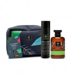 Apivita promo It's Man's World Ενυδατικό After Shave, 100ml & Tonic Mountain Tea Αφρόλουτρο 300ml