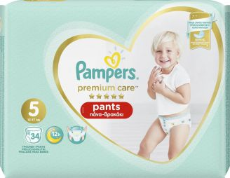 Pampers Premium Care Pants No 5 (12-17 kg) 34τμχ