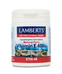 LAMBERTS E 400IU NATURAL 60CAPS