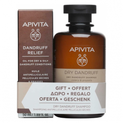 Apivita Dandruff Relief Oil 50ml & Dry Dandruff Shampoo 250ml