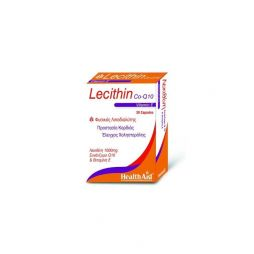 HEALTH AID LECITHIN 1000MG & CoQ10 & NATURAL VITAMIN. E 30 C