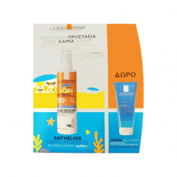 La Roche Posay Anthelios Set Παιδικό Αντηλιακό Σπρέι Dermo-Pediatrics Invisible Spray SPF50+ & Lipikar Gel Lavant SPF50 300ml
