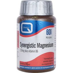 QUEST SYNERGESTIC MAGNESIUM 150mg Plus B6 60 tabs