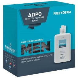 FREZYDERM Hair Force Shampoo Men 200ml & ΔΩΡΟ Επιπλέον 100ml