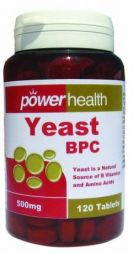POWER HEALTH SUP YEAST 500MG*120T