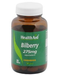 HEALTH AID BILBERRY BERRY EXTRACT 275MG 30TABS