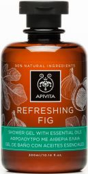 Apivita refreshing fig shower gel
