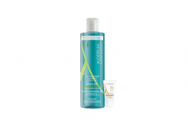A-Derma Phys-AC Gel Moussant Purifiant 400ml & ΔΩΡΟ Aderma Αντηλιακή SPF50+ PROTECT AC 5ml