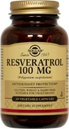 Solgar Resveratrol 100mg (Polygonum cuspidatum) 60 vegetable capsules