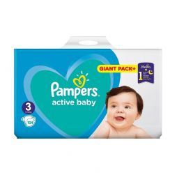 Pampers Active Baby Dry Πάνες No3 (6-10kg) 104τμχ