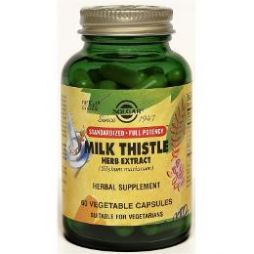 solgar milk thistle herbs & seed extract 60caps