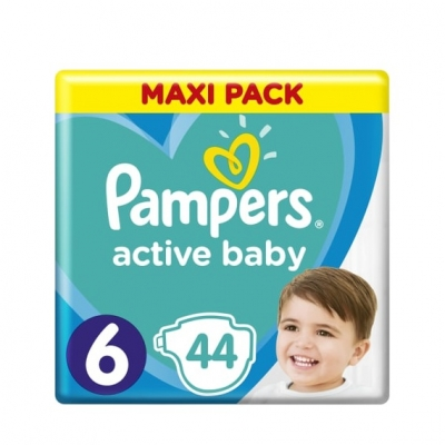 PAMPERS ACTIVE BABY MAXI PACK NO6 (13-18kg) ΒΡΕΦΙΚΕΣ ΠΑΝΕΣ 44 ΤΜΧ.