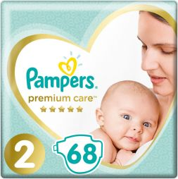 Pampers Premium Care Jumbo Box Νo 2 (4-8kg) 68τμχ