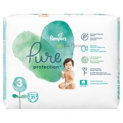 PAMPERS PURE PROTECTION No3 (6-10kg) 31τμχ