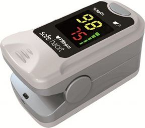Safe Heart Fingertip Pulse Oximeter MODEL:SHO-3001 Color Grey