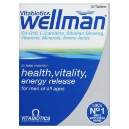 VITABIOTICS WELLMAN 30CAPS