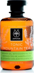 Apivita tonic mountain tea shower gel