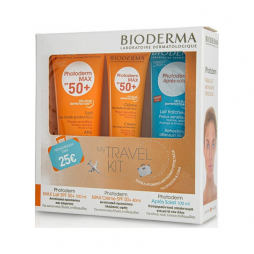 BIODERMA TRAVEL KIT PHOTODERM MAX LAIT SPF 50+ 100ML + PHOTODERM MAX CREME SPF50+ 40ML + APRES SOLEIL 100ML