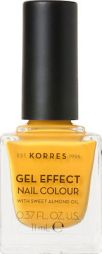 ΚΟΡΡΕΣ Βερνίκι Νυχιών Gel Effect Nail Color With Sweet Almond Oil No 91 Sunshine 11ml