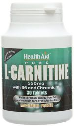 HEALTH AID L-CARNITINE 550MG 30TABS
