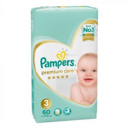 Pampers Premium Care No 3 (6-10kg) 60 τμχ