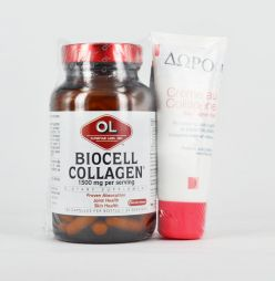 Olympian Labs Biocell Collagen 1500mg 100caps+Dermagor Creme au collagene 40ml