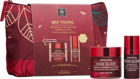 Apivita Bee Young Set Wine Elixir Light Texture